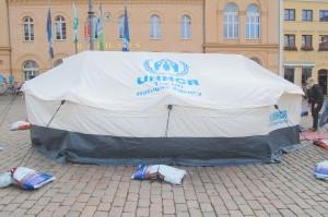 UNHCR-Zelttour des Flüchtlingsraters Mecklenburg-Vorpommern 2013 in Schwerin